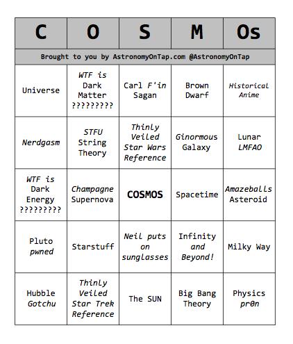 NSFW-ish COSMOS Bingo