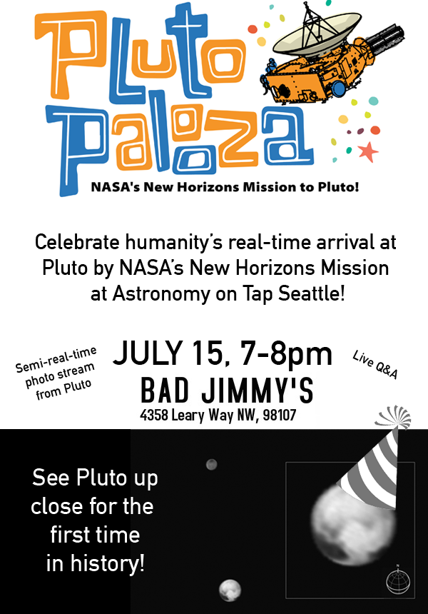 Kerberos Moon Of Plluto: Astronomy On Tap Seattle Presents Pluto-Palooza: July 15th