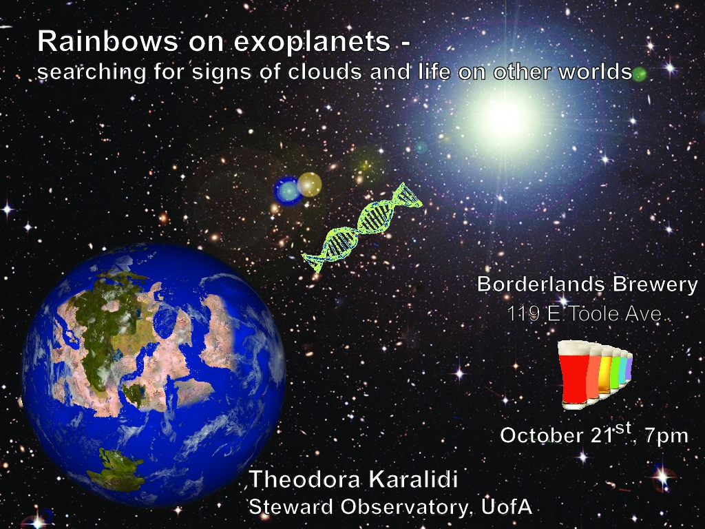 Follow the Rainbow at Astronomy on Tap - Tucson, AZ, Oct. 21st at the Borderlands Brewing Co.