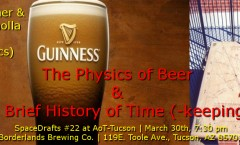 Space Drafts 22: Time & Beer at AoT-Tucson, March 30th at the Borderlands Brewing Co.