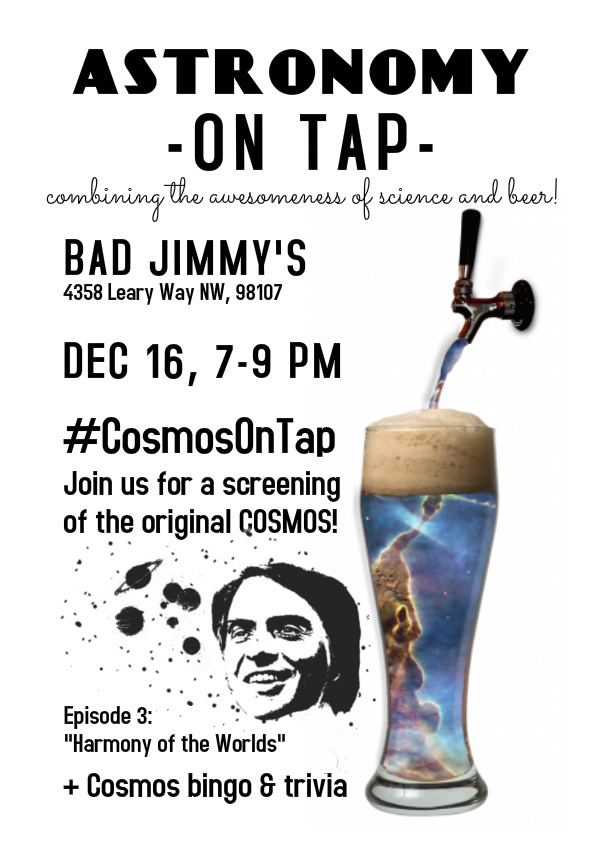 Astronomy on Tap Seattle X: December 16th at Bad Jimmy's