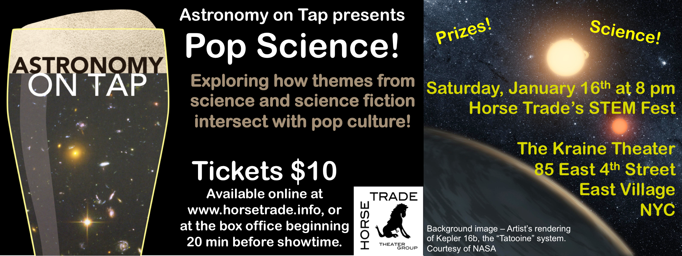 AoT NYC presents Pop Science! at STEMFest on January 16 at 8 pm