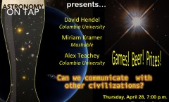 AoT NYC: Can We Communicate with Other Civilizations? Thursday, April 28, 7 p.m. at the Way Station in Brooklyn
