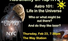 Astronomy on Tap, NYC – 23 Feb 2017 @ The Way Station