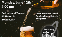 Astronomy on Tap Boston – June 12, 2017