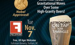 Astronomy on Tap Triangle #3: Tuesday, November 7, 2017