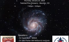 Astronomy on Tap Colorado: Thursday, January 25, 2018, Twisted Pine Brewing Co