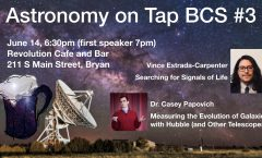 Astronomy on Tap BCS #3: June 14, 2018