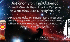 Astronomy on Tap Colorado: Wednesday June 6, 2018, Woods Boss Brewing Company