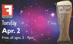 Astronomy on Tap Triangle #14: Tuesday, April 2, 2019