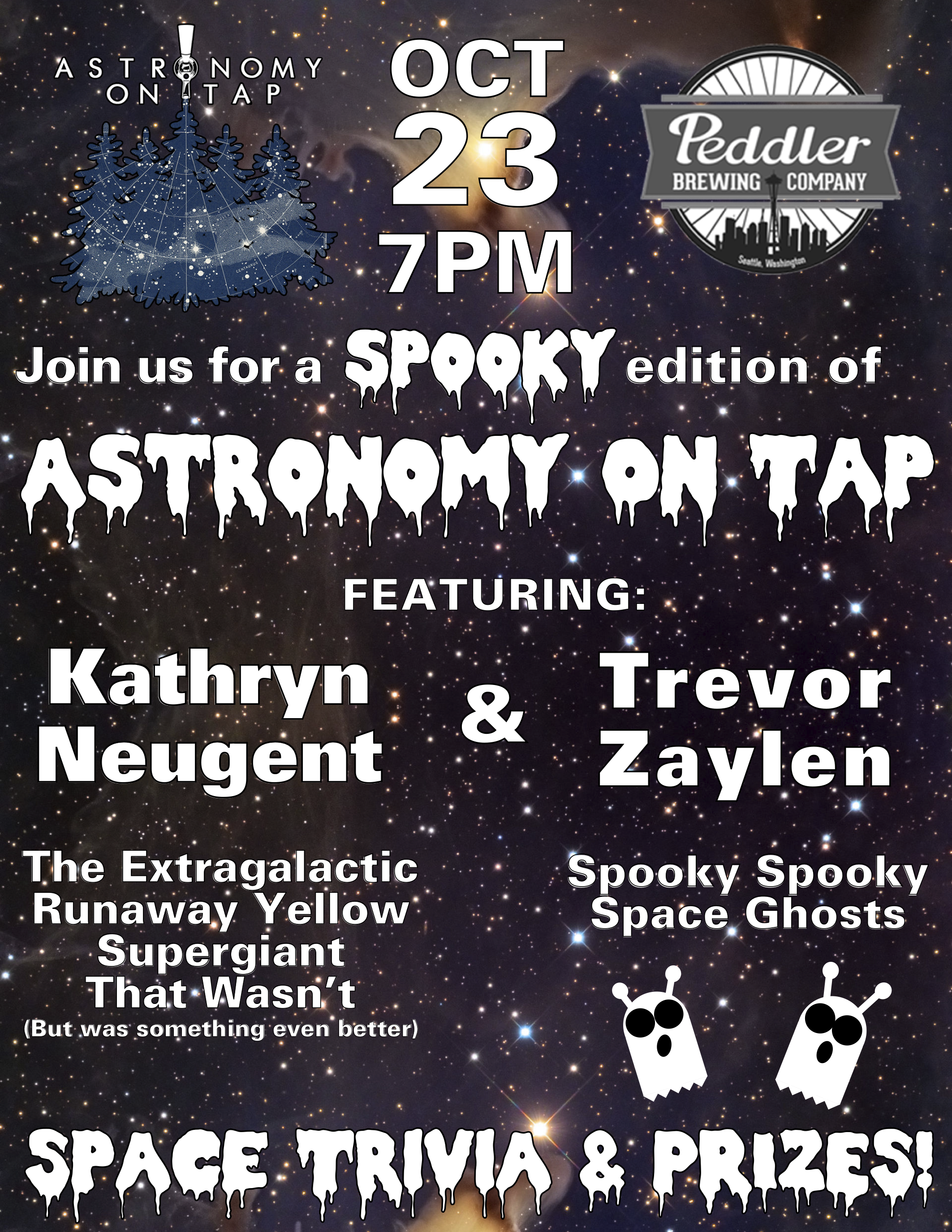 Astronomy on Tap Seattle, 7pm 10/23 at Peddler Brewing