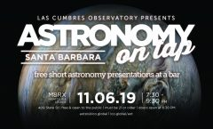 Astronomy on Tap Santa Barbara on November 6th, 2019, at Matrix