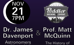 Astronomy on Tap Seattle: November 21st at Peddler Brewing