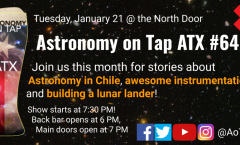 Astronomy on Tap ATX #64, January 21, 2020