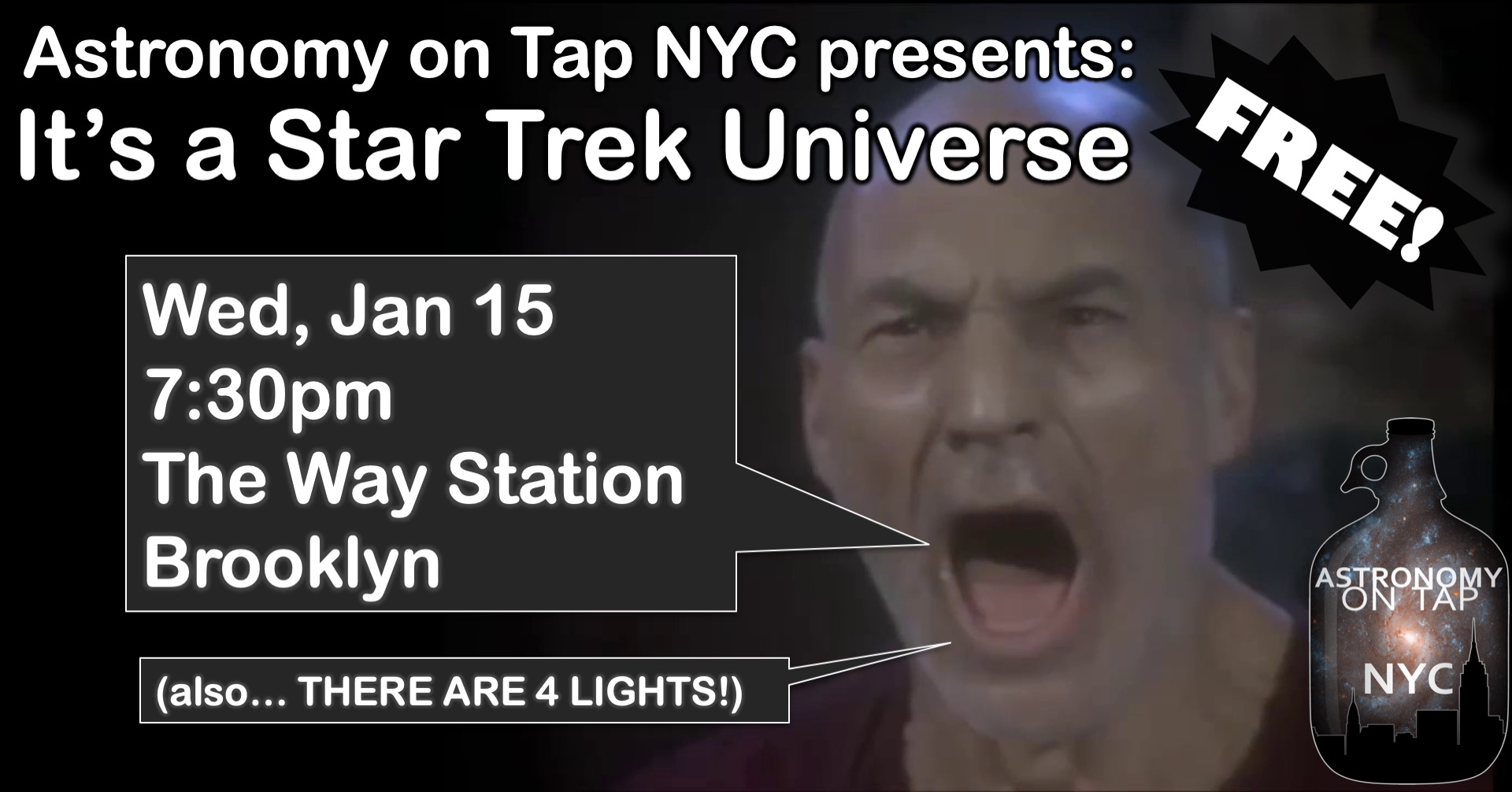 January in NYC - It's a Star Trek Universe