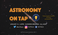 Astronomy on Tap Davis, CA Thursday January 16th 6-8pm at Sudwerk Brewing