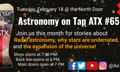 Astronomy on Tap ATX #65, February 18, 2020