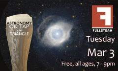 Astronomy on Tap Triangle #20: Tuesday, March 3, 2020