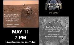 Astronomy on Tap-STL Online, May 2020 (UTC-6; 7 p.m Central Time USA)