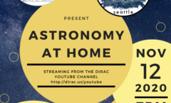 Astronomy at Home Seattle: November 12th (Online)
