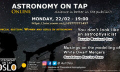 Astronomy on Tap Oslo: February 22, 2021